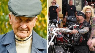 Video 91-Year Old Gets Harassed By 3 bikers, Then Stands Up And Takes The Ultimate Revenge MP3, 3GP, MP4, WEBM, AVI, FLV Agustus 2018