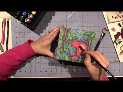Gelli Print Tissue box tutorial;  Part 4
