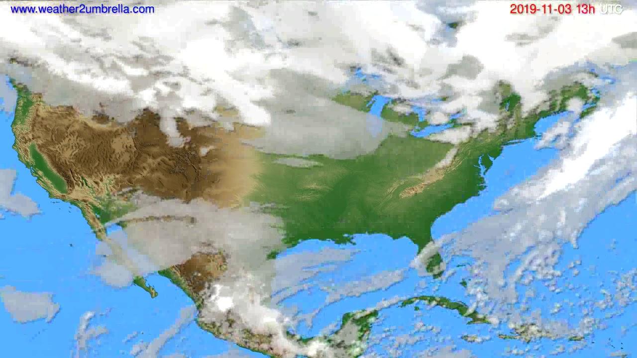 Cloud forecast USA & Canada // modelrun: 00h UTC 2019-11-02