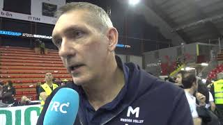 Sir Safety Perugia-Modena Volley 3-1, intervista Cantagalli