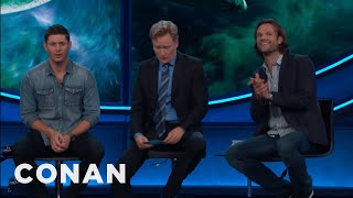 Jensen would have no problem jumping in front of a Nerf gun for Jared.More CONAN @ http://teamcoco.com/videoTeam Coco is the official YouTube channel of late night host Conan O'Brien, CONAN on TBS & TeamCoco.com. Subscribe now to be updated on the latest videos: http://bit.ly/W5wt5DFor Full Episodes of CONAN on TBS, visit http://teamcoco.com/videoGet Social With Team Coco:On Facebook: https://www.facebook.com/TeamCocoOn Google+: https://plus.google.com/+TeamCoco/On Twitter: http://twitter.com/TeamCocoOn Tumblr: http://teamcoco.tumblr.comOn YouTube: http://youtube.com/teamcocoFollow Conan O'Brien on Twitter: http://twitter.com/ConanOBrien