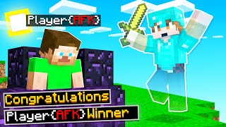 I HELP an AFK Player Win MINECRAFT (funny)