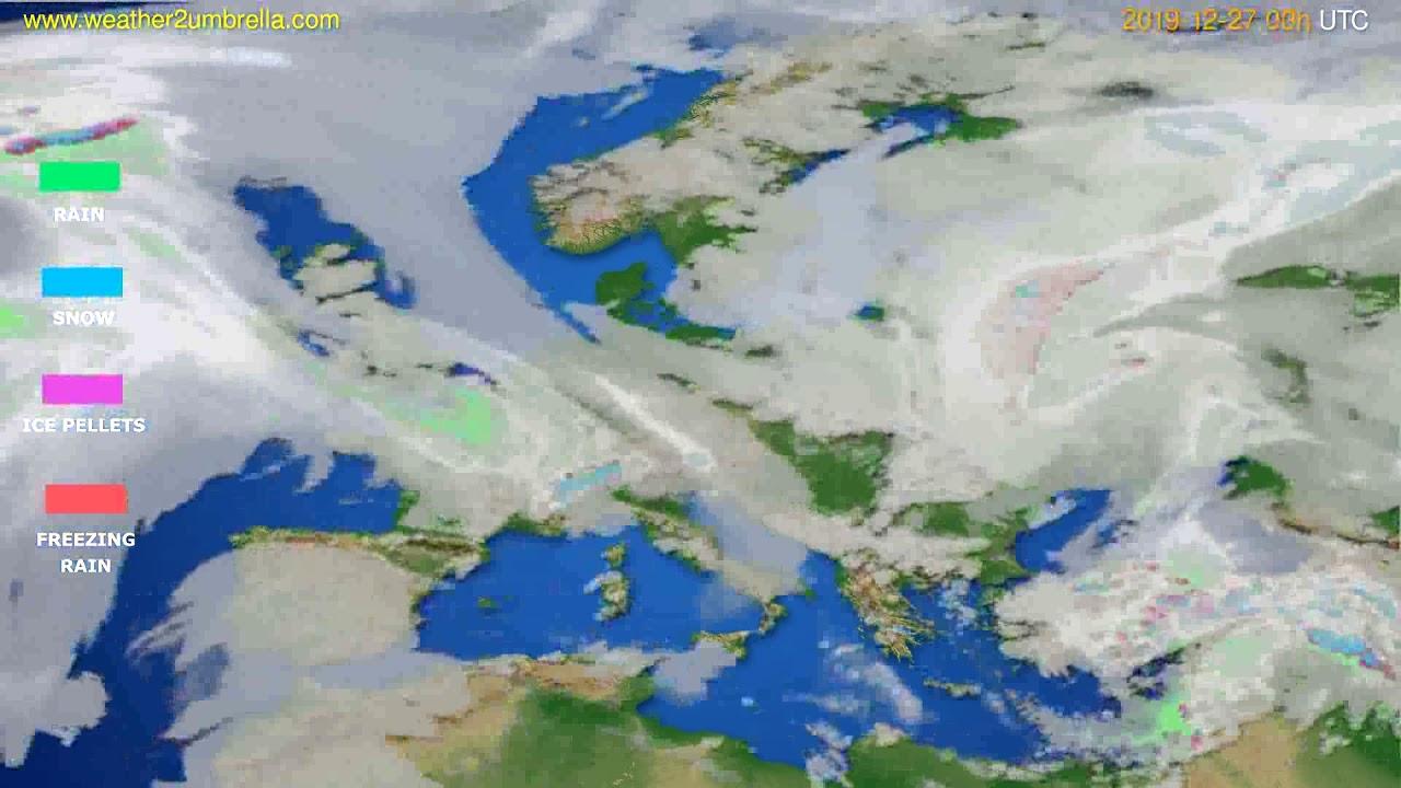 Precipitation forecast Europe // modelrun: 00h UTC 2019-12-26