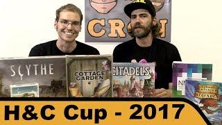Wir verkünden die Gewinner unseres Hunter & Cron - Cup der Berlin Brettspiel Con 2017. Wir wünschen euch einen schönen Urlaub! Die Live-Streams kommen demnächst.▶Kanal abonnieren: http://www.youtube.com/user/hunterundcron?sub_confirmation=1▶Homepage: http://www.hunterundcron.de▶Brettspiele bei Spiele-Offensive kaufen: http://bit.ly/1spkvqX▶Brettspiele bei Amazon kaufen: http://amzn.to/1pcOP14▶Brettspiele bei Milan-Spiele kaufen: http://bit.ly/1D2l8vwDurch das Benutzen dieser Partnerlinks beim Spielekauf kannst Du unsere Arbeit unterstützen. Dir entstehen dabei keine zusätzlichen Kosten. Vielen Dank.▶Auf Patreon kannst Du uns dauerhaft unterstützen: https://www.patreon.com/hunterundcron▶Unsere T-Shirts gibt es hier: http://www.hunterundcron.de/shop▶Brettspiel-Club: http://bit.ly/brettspielclub▶Brettspiel-Reviews: http://bit.ly/huc_reviews▶Let's Play Brettspiele: http://bit.ly/huc_letsplaysFür dieses Video stand uns ein Rezensionsexemplar zur Verfügung.Hunter & Cron werden unterstützt von:▶http://www.spiele-offensive.de: Noch nie war Spiele kaufen und leihen so einfach.▶http://www.brettspielgeschaeft.de: Dein Brettspiel-Fachgeschäft in Berlin mit der größten Auswahl.▶https://www.facebook.com/WuerfelUndZucker: Würfel & Zucker - Das neue Brettspiel Café in Hamburg▶Hunter & Cron Logo designed by Klemens Franz: http://www.atelier198.com/▶Homepage: http://www.hunterundcron.de▶Facebook: https://www.facebook.com/hunterundcron▶Twitter: https://twitter.com/hunterundcron▶Patreon: https://www.patreon.com/hunterundcron▶Twitch: http://www.twitch.tv/hunterundcron▶Boardgamegeek Gilde: http://boardgamegeek.com/guild/1934▶Instagram: http://instagram.com/hunterundcron▶Pinterest: http://www.pinterest.com/hunterundcron/