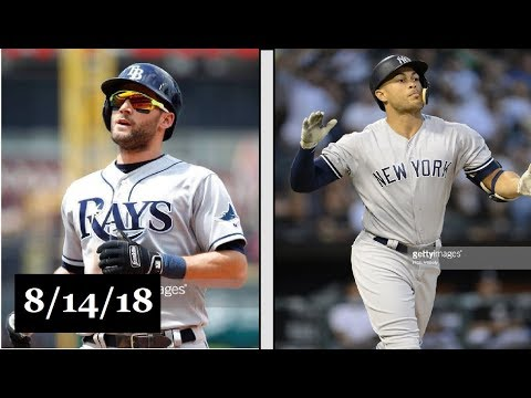 Tampa Bay Rays vs New York Yankees Highlights    August 14, 2018