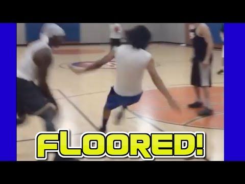 這男子在籃球場上使出「超不可思議的假動作」,差點就把對手的膝蓋給摔裂了!