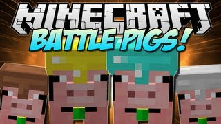 Minecraft   BATTLE PIGS! (Pig Companions!)   Mod Showcase [1.5.1]