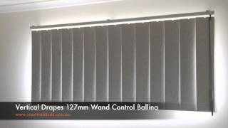 Vertical Drapes 127mm Wand Control Ballina