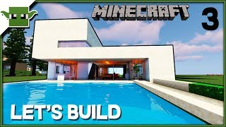 Minecraft Lets Build a Modern House - 'House of the Year 2018' Ep3