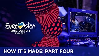 With 42 countries, 3 hosts, various interval acts and many crew members, over 300 people enter and leave the stage during 7 hours of live television. To make sure everyone knows where to be, the floormanagers are a vital part of the production. If you want to know more about the Eurovision Song Contest, visit https://eurovision.tv