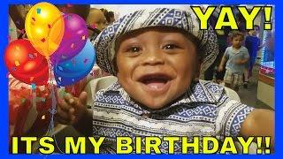 CHUCK E CHEESE Wahooooooooo! Baby Josiah's FIRST Birthday Party!! [NEW Family Vlog #4]