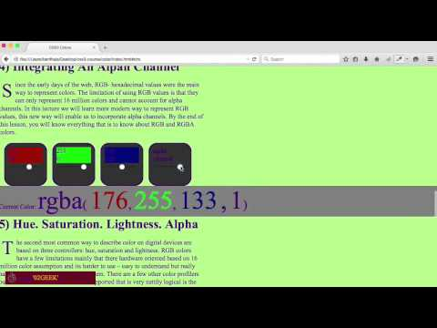Mastering CSS3 Colors