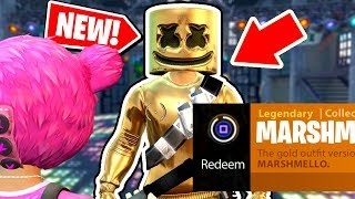 NEW! How to get the GOLD MARSHMELLO Outfit in Fortnite: Battle Royale *NEW* Easter egg in FORTNITE!