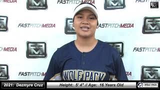 2021 Dezmyre Cruz Catcher Softball Skills Video - Lady Wolfpack 18 Gold Alkire