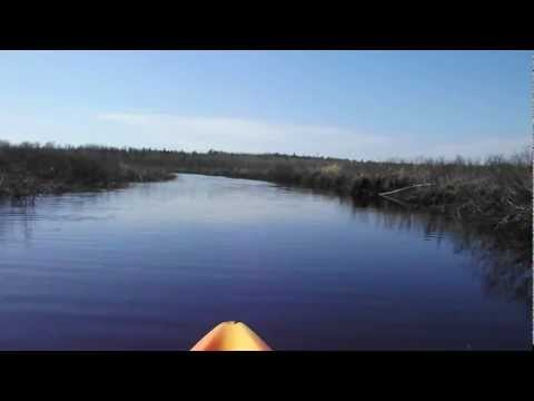 Flatwater Kayaking on Meteghan River, Nova Scotia