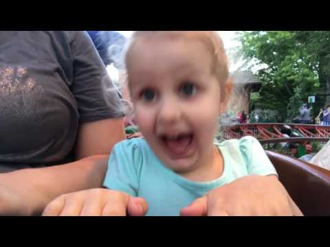 3 Year Old's First Time on Roller Coaster