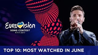 Every month we look at the most watched videos of the official YouTube channel of the Eurovision Song Contest. This month marks a new number 1 and two comebacks. If you want to know more about the Eurovision Song Contest, visit https://eurovision.tv
