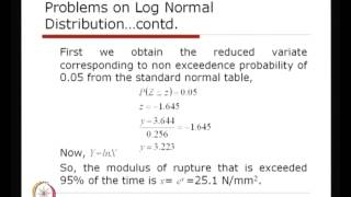 Mod-01 Lec-32 Probability Models Using Log Normal And Exponential Distribution
