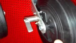 Опорное колесо со стопором с хомутом и крепежом