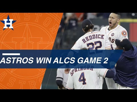 Watch The Astros Win On Correa's Walk-off In The 9th Of Alcs Game 2