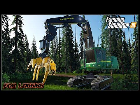 Putin Directional Feller To Work ✅TimeLapse Logging #3✅ ✔ Farming Simulator 2019 ✔ FDR Logging