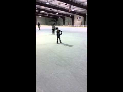 Raygan Cuesta's first time ice skating at the Ice Zone