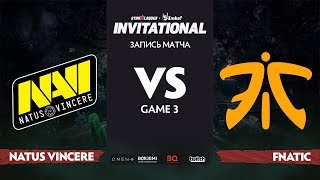 Natus Vincere против Fnatic, Третья карта, Группа Б, StarLadder Imbatv Invitational S5 LAN-Final