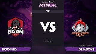 [RU] BOOM-ID vs Demolition Boys, Game 3, StarLadder ImbaTV Dota 2 Minor