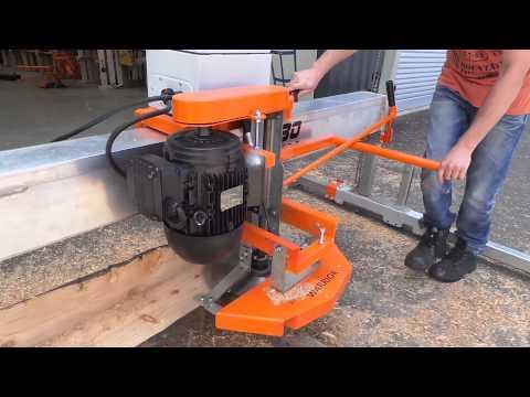 swing blade sawmill homemade 1