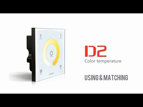 Touch panel Color Temperature  LED Controller ,LTECH D2