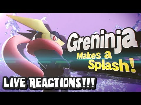 3DS - LIVE REACTIONS TO SMASH BROS NINTENDO DIRECT REVEAL! HOLY CRAP IT'S MEWTWO!....OH WAIT IT'S GRENINJA????!!!! YESSSSSSSSSSS!!!! Friends in Reaction Video: htt...