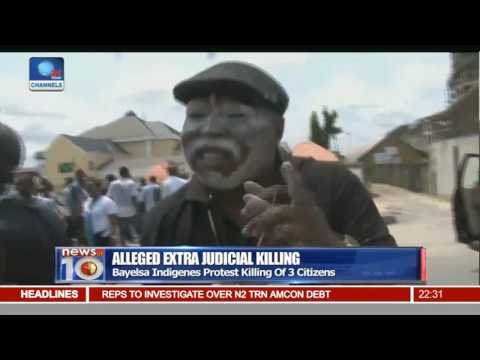 Alleged Extra Judicial Killing: Bayelsa Indigenes Protest Killing Of 3 Citizens