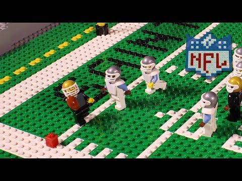 NFL Road to Super Bowl LII: Carolina Panthers vs. New Orleans Saints | Lego Game Highlights