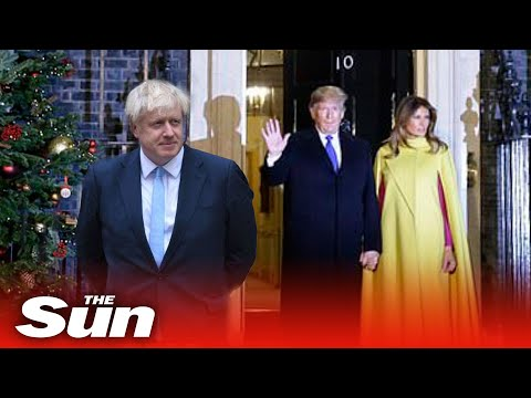 Donald Trump and world leaders arrive at Downing Street Nato reception hosted by PM Boris Johnson