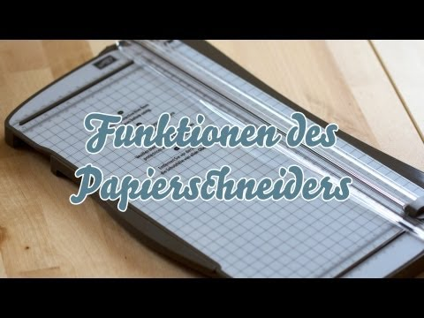 Funktionen des Papierschneiders von Stampin' Up!