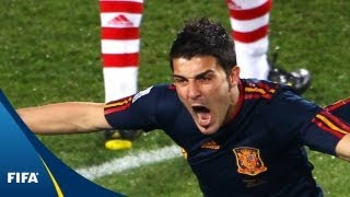 Paraguay - Spain, 2010 FIFA World Cup South Africa™: Two dramatic penalty misses gave way to David Villa's late winner for La ...