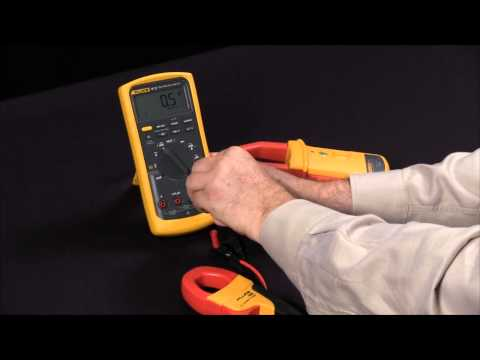 How To Configure A Fluke Multimeter To Use AC And AC/DC Current Clamps