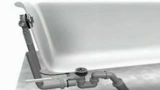 Монтаж сливного набора для ванны HANSGROHE Exafill 58113 000