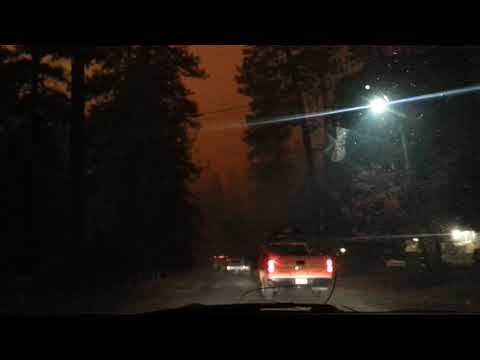 Camp Fire leaving Norwood to Pentz