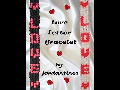 New Love Letter Bracelet – Monster Tail or Rainbow Loom – Valentine's Day