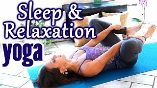 Beginners Yoga for Relaxation & Sleep, Flexibility Stretches for Stress, Anxiety & Pain Relief - YouTube