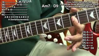 Video How Carlos Santana Uses The Dorian Scale Mode To Play Guitar Solo Melodies Oye Como Va MP3, 3GP, MP4, WEBM, AVI, FLV Juni 2018