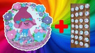 Trolls Cake Plus 30 Cupcakes | Resep Cara Membuat Kue Ulang Tahun Mudah