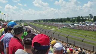 2016 Indy 500 Start from NE Vista turn 3