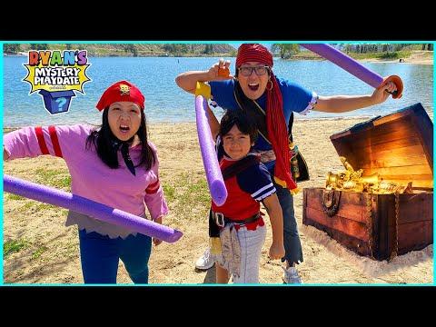 Ryan's Mystery Playdate Pirate Adventure Special on Treasure Island!!!