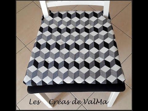 Housse / coussin de chaise - Galette de chaise - Tuto couture ValMa
