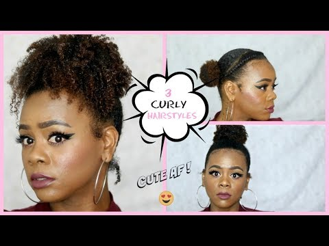 Curly hairstyles - Lazy Hairstyles for CURLY HAIR  Quick & EASY Francine Hughley