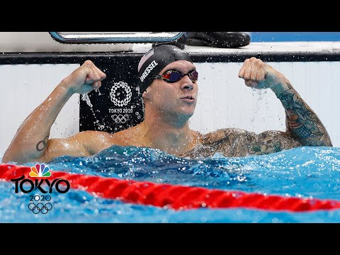 Caeleb Dressel EXPLODES for third Tokyo gold, Olympic record in 50m freestyle | NBC Sports