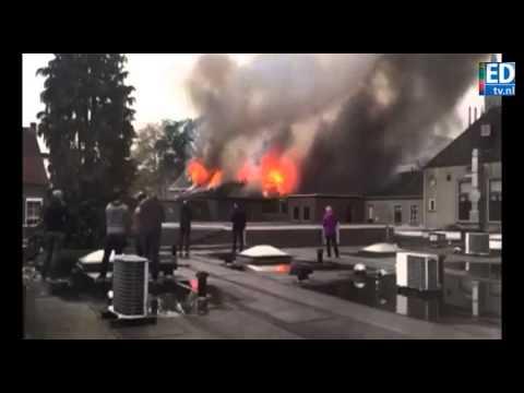 Zeer grote brand in centrum Gemert onder controle