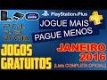 PSN Plus Jogos Grátis Para JANEIRO de 2016 [ Lista OFICIAL ]